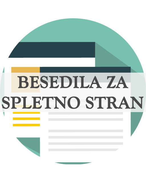 Besedila za spletno stran ter opisi izdelkov in storitev