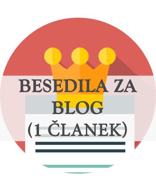 Besedila za blog 1 objava, en članek - pisanje besedil