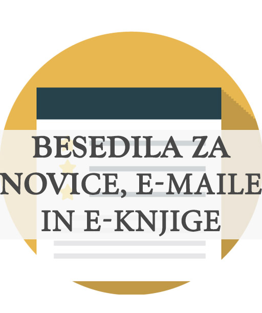 E-mail marketing, novice in e-knjige