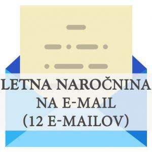 Letna naročnina na e-mail, emailing