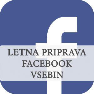 Letna priprava vsebin za Facebook stran