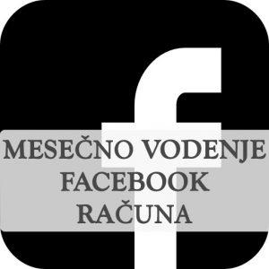 Mesečno vodenje facebook strani, priprava vsebin